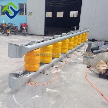 Easy install New Style Road Roller Road construction use Detachable highway safety guardrail with BV certificate
