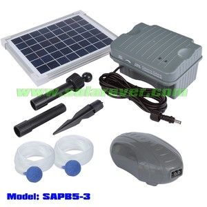 Brushless solar battery oxygenator with two air outlets (SAPB5-3)