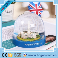 City Travel Collectible Glitter Dome Snow Globe Plastic