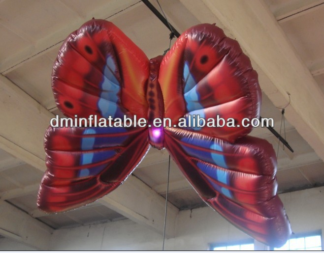 2013 hot sale hanging inflatable butterfly wing