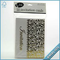 Fashionable colorful wedding invitation cards models