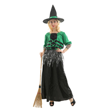China Factory Halloween Sexy Green Carnival Cosplay Costume