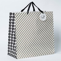 Large Square Gift Bag/cosmetic packaging paper bag/fashionable eco bag