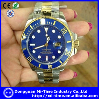 Men 2014 stainless steel oem best swiss movement new luxury watches