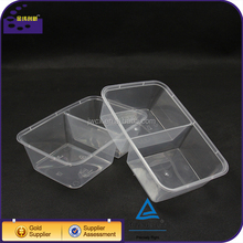 meal prep 2 compartment biodegradable snack box plastic plate with lid