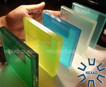 Tinted Colored Laminated Glass Safe Glass