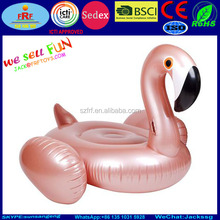 Inflatable Rose Gold Float Flamingo Raft