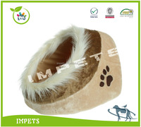fashion plush cat bed,2016 OEM pet bed with luxury hair