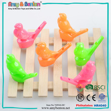 Promotional funny plastic bird water whistle for kids