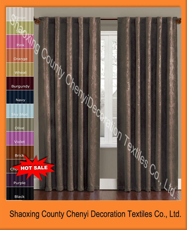 New 100%polyester fashion curtain designs 2012