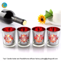 laser engraving scented glass candle holders with box factory supplier yufengcraft : www.yufengcraft.cn