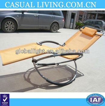 Rocking chair metal beach chair folding chair