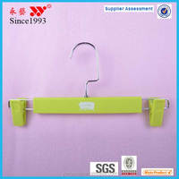 rubber coated kids plastic pants hangers with metal hook