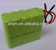 hot sale nimh AAA800 12V battery for miner's lamps
