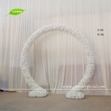 GNW 7ft FLW512001 NEW backdrop decoration artificial rose and hydrangea white wedding flower arches
