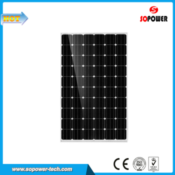 Roof Monocrystalline Silicon Material Solar Power Panel 100W 18V