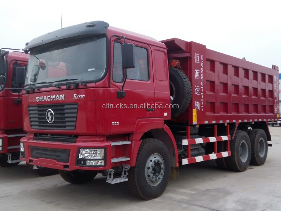 low price factory sale 10 wheeler 40ton Shacman lorry dump truck