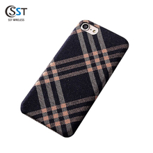 Newest customized tpu+canvas mobile phone cases for iphone 7 ,professional design protective case for iphone 8