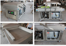 Double chamber automatic fresh meat vacuum packing machine