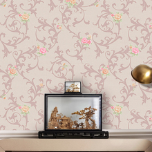 American contry style flower PVC wallcovering vinyl coated wallpaper