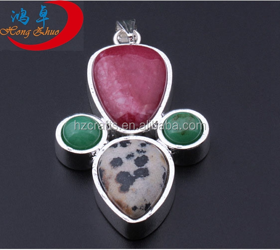 Fashion stainless steel Jewelry Exaggeration Statement Necklace assorted shape Crystal Pendant