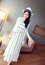 monroo 2014 western styles summer new fashion striped long dress for ladies