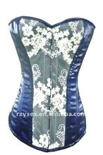 White And Blue Corset