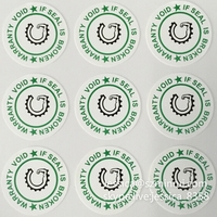 Custom Logo Printed Fragile Self Adhesive Sticker, One Time Use Warranty Void If Seal Removed Stickers