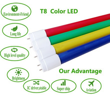 Economy 3 years warranty G13 t8 colorful green red blue led tube