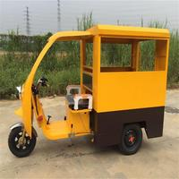 48V/60V 800W Rear Axle Differential 3 wheel semi-enclosed passenger electric tricycle