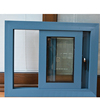 aluminum thermo profile sliding window/Powder coated aluminum frame tempered glass sliding window