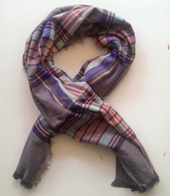 very soft feeling fake cashmere woven Autumn and Winter Warm Stylish Large Size england scarf check scarf