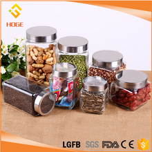 Wholesale Clear Sealed Spice Use Square Bottle Glass Storage Jar