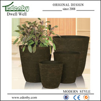 New design flower pot painting designs in different size