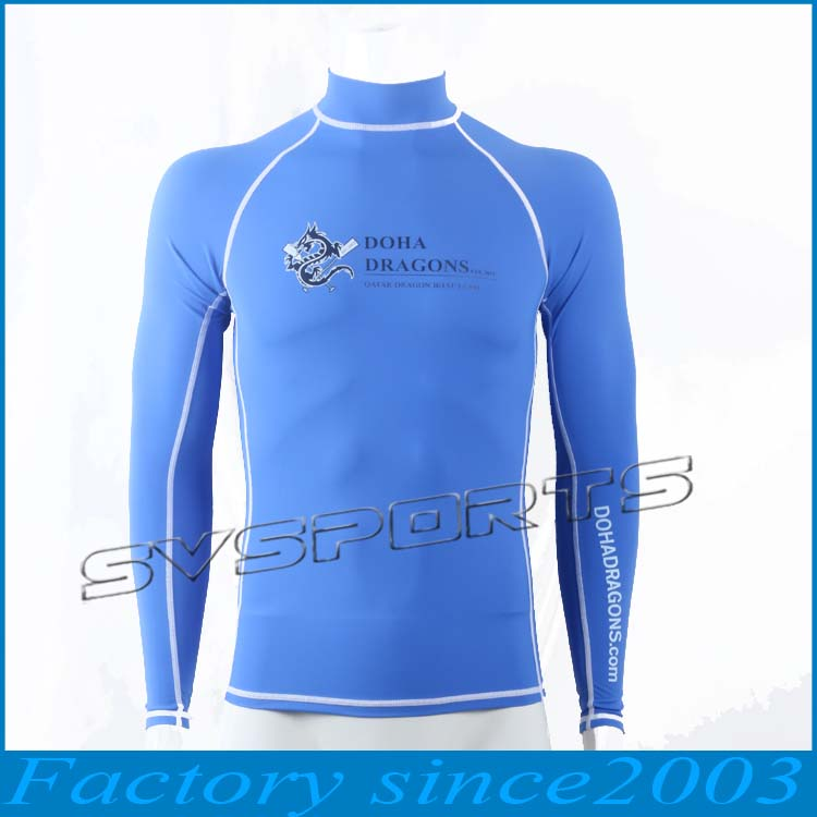 Adult Long Sleeve Rush Guard on STOCK