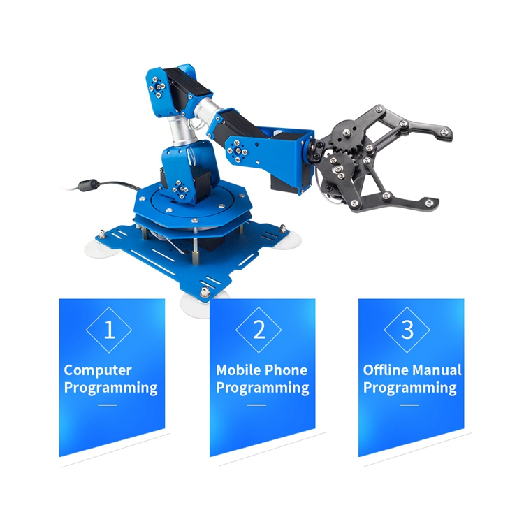 6DOF Robot Arm 6-Axis Aluminum Robotic Arm with Servos Ready to Use Finished Standard Version