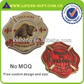 Metal 3D special shape fire rescue coins