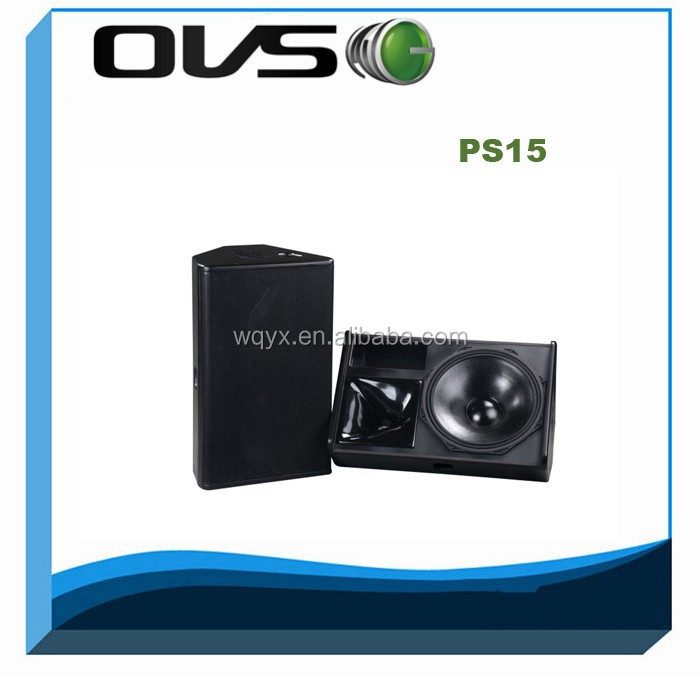 PS-15 350W 8ohm <strong>11</strong> layers plywood high quality professional dj speaker 15""