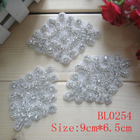 cheap beautiful sequin beaded wholesale rhinestone applique for decoration