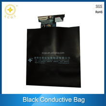 Black conductve printed antistatic bag with black printings