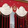 2016 fashion embroidered design stage decoration curtain