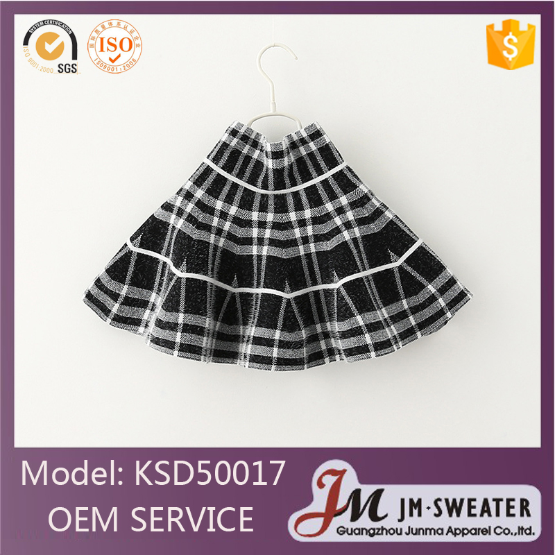 Fashion formal design high school uniform black plaid pleated skirt