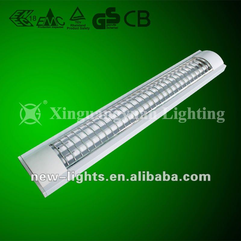 T5 fluorescent office ceiling light fixture