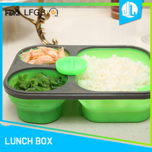 Promotion green square food warmer lunch box