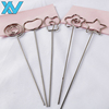 DIY heart shape craft wire clip card photo memo holder clips wholesale metal clamp clay cake Accessories decoration