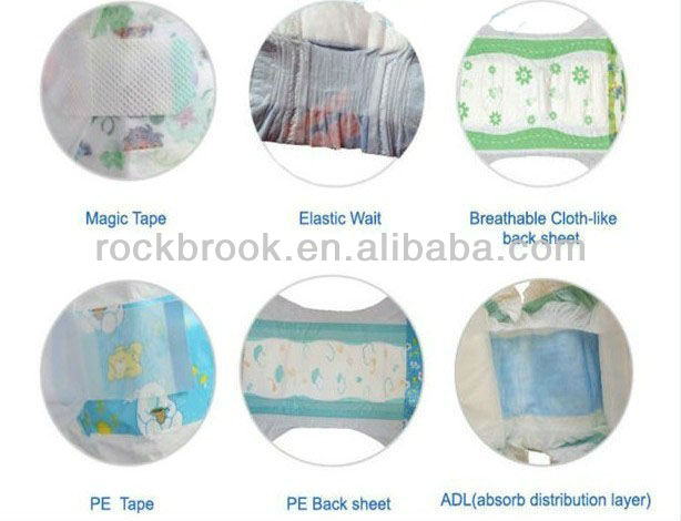Soft and sleepy baby diaper from quanzhou china