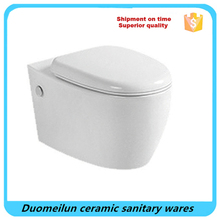 European round shape sanitary wares toilet wall hung wc toilet