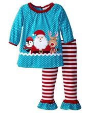 CONICE NINI brand winter happiness polka dots snowman christmas festival girls clothes suits
