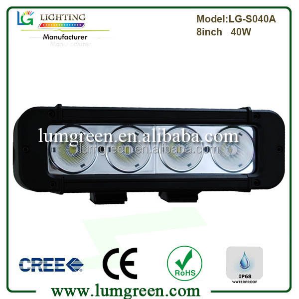 "Auto Part 40W Single Row LED Light Bar 8"" from Lumgreen 4*10w LED Bar Light"