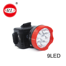 RL-1016 led head lamp Waterproof Outdoor Camping 9LED Rechargeable Fishing /Camping /engineer operation Head lamp